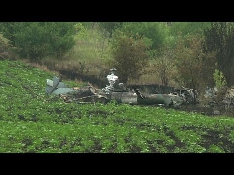 Amateur films Ukrainian helicopter downed by rebels