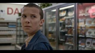 Stranger Things Eleven stealing Eggos Scene