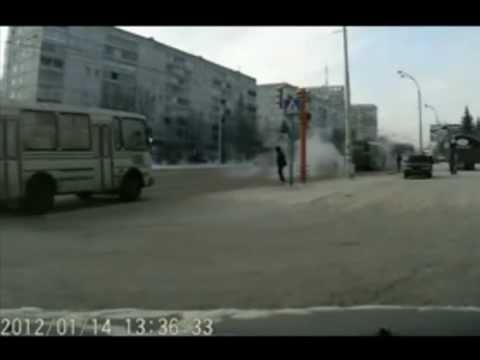 ДТП автобус сбил пешехода