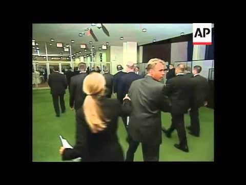 Ban Ki-Moon, Bush and other world leaders at gala dinner