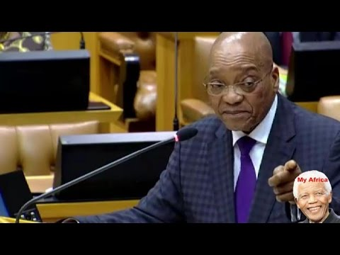 Jacob Zuma Shouting At DA Mmusi Maimane
