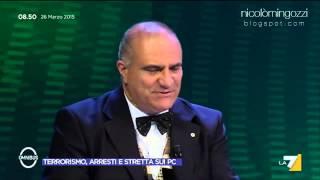 video nicolomingozzi.blogspot.com Estratto da Omnibus del 26 Marzo 2015. Il già generale della Gdf Umberto Rapetto commenta il decreto anti-terrorismo, sfornato dal governo Renzi-Alfano e...