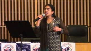Aneesha Mantripragada - Padutha Theeyaga live Auditions 2015 - US Series