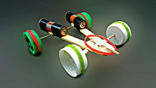 How To Make A Car With Rubber Band Powered || EASY