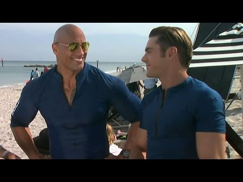 EXCLUSIVE: Zac Efron and Dwayne Johnson Gush Over Each Other's Hotness on 'Baywatch' Set