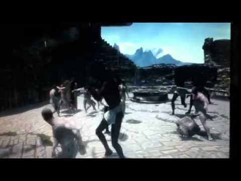 Skyrim nude battle