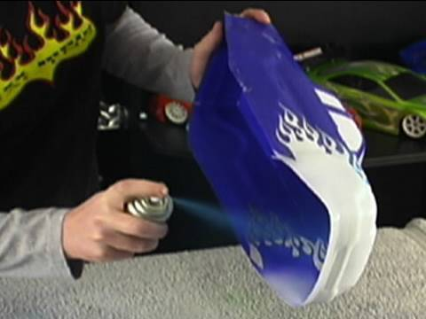 How to Paint RC Car Bodies~ Vinyl Paint Masks~ xxx main Graphics