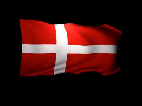 3D Rendering of the flag of Denmark waving in the wind.