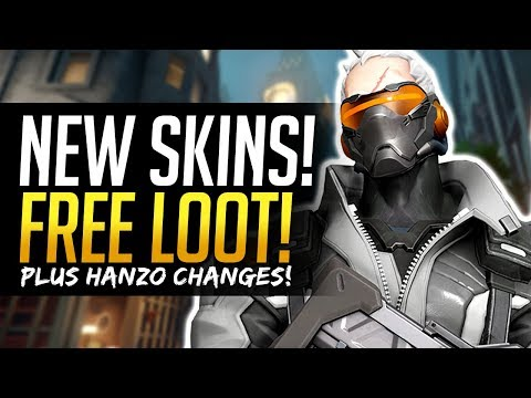 Overwatch NEW SKINS & FREE LOOT - Hanzo changes and more!