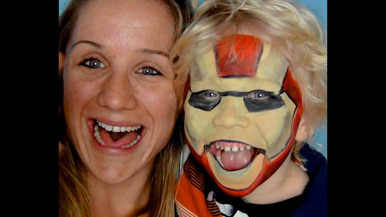 Iron Man Face Paint Iron Man Face Paint