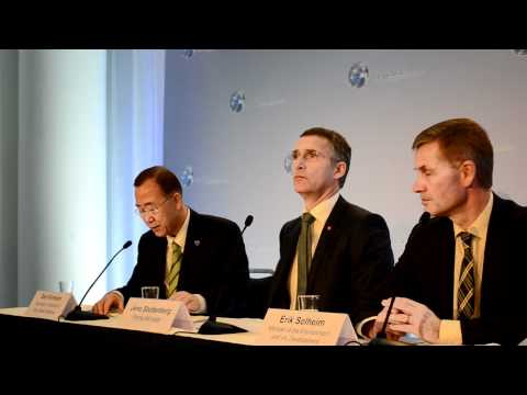 UN Sec Gen Ban Ki Moon Press Conference