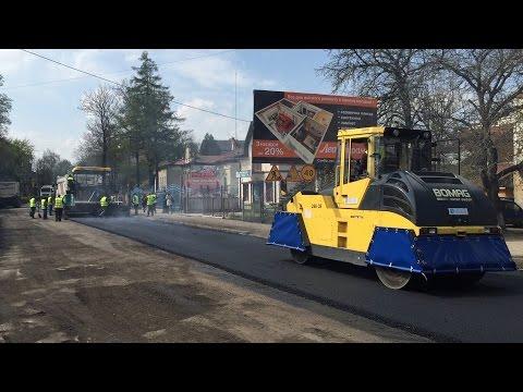 Компанія ONUR ремонт дороги в Самборі ч.1