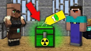 Minecraft NOOB vs PRO : NOOB BOUGHT THIS SUPER SECRET CHEST FOR 1$! Challenge 100% trolling