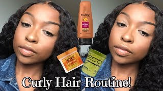 My Quick & Easy Curly Hair Routine | Drugstore Curly Hair Routine | Ft. Julia Hair | Lovevinni_