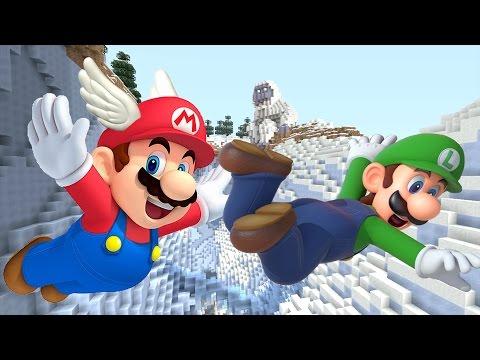Minecraft Wii U - NEW Super Mario Adventures - GLIDE WITH FANS!  [19]