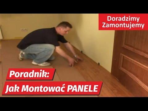 Panele podłogowe Poradnik jak montować pokazuje fachowiec