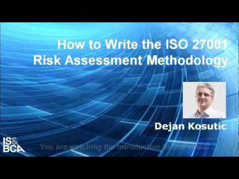 Introduction | How to Write the ISO 27001 Risk Assessment Methodology