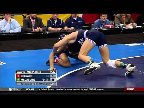 2013 NCAA Wrestling National Championships D1 Nicholas Megaludis (PSU) vs. Jesse Delgado (Illinois)