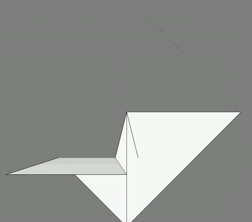 Оригами схема сборки гусь
