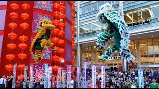 CNY2017~ Acrobatic Double Lion Dance (舞獅 Múa Lân) by Khuan Loke 群乐龙狮团@Suria KLCC (19/1/2017) 4K UHD