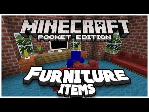 FURNITURE IN MCPE?! MOD - Minecraft PE (Pocket Edition)