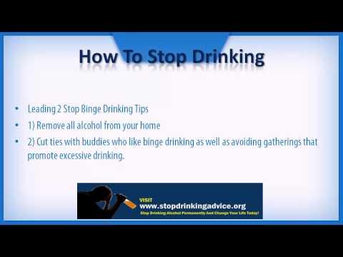 Stop Binge Drinking Tips