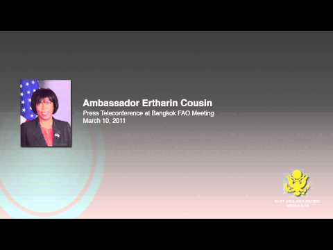 Amb. Ertharin Cousin Bangkok FAO Meeting Press Teleconference