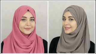 2 New Chiffon Hijab Tutorials | Muslim Queens by Mona