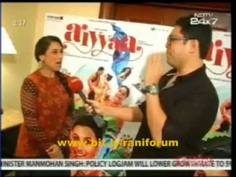 NDTV interview Rani Mukerji on Aiyyaa,Prithvi love,marriage,Kareena,Sridevi
