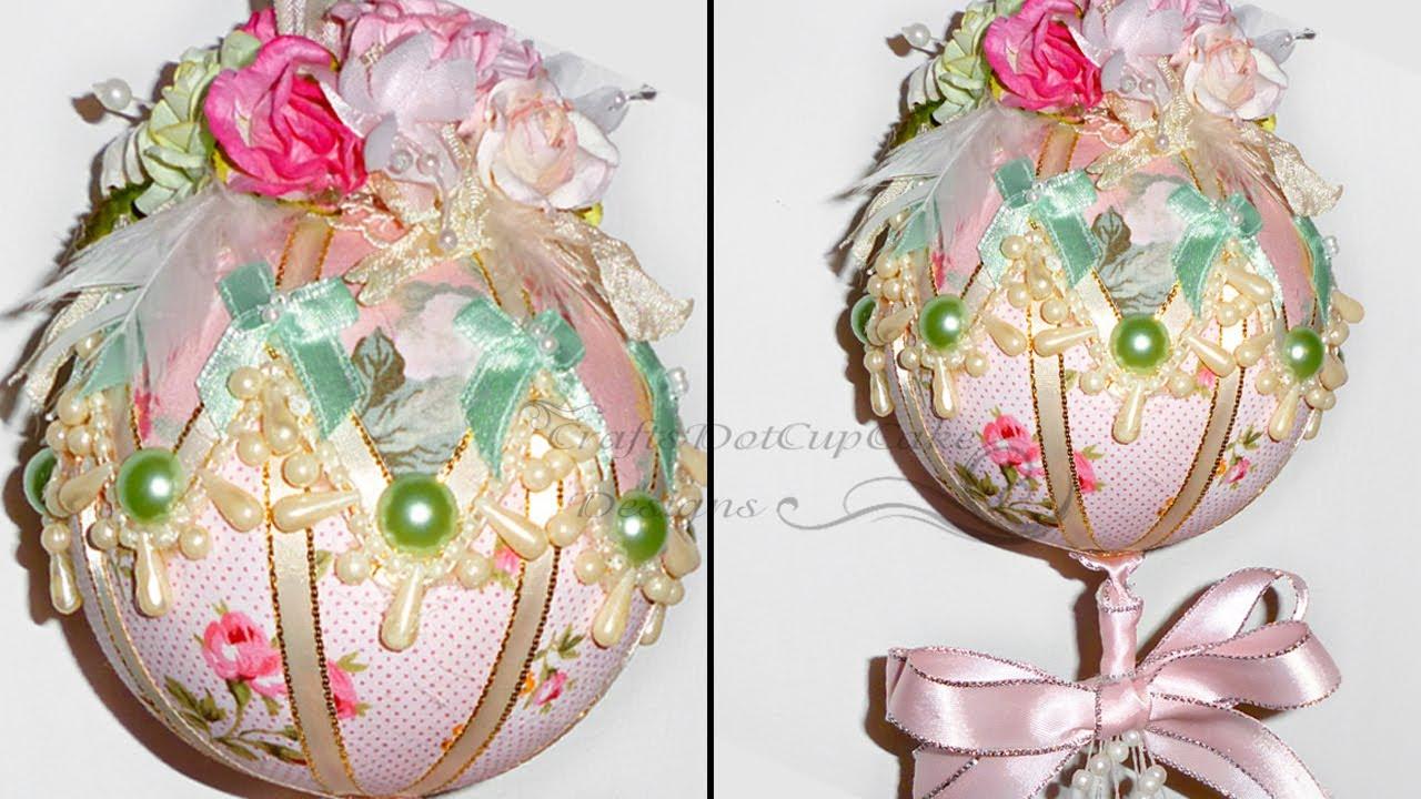 Tutorial - Shab... Xmas Ornaments To Make