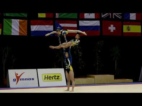FIG Acro World Cup 2013 Maia - BEL W3 Sen Balance - Schollier, Van Betsbrugge and Van Overberghe
