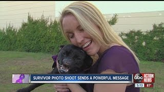 Woman and dog, both victims of violence, form loving bond