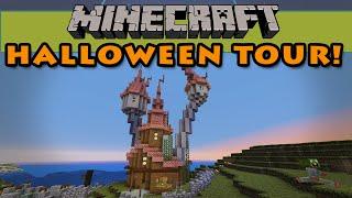 Minecraft Halloween Server Tour!