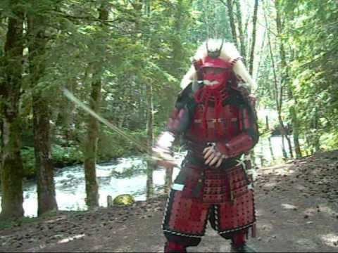 129-KENJUTSU IN FULL SAMURAI ARMOR YOROI, NATURE, AND SHAKUHACHI PRACTICE Image 1