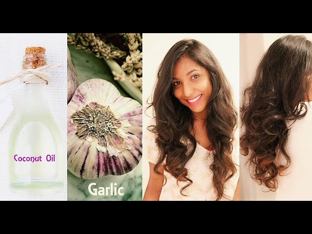 How to grow hair REALLY FAST! | Natural hair mask using Garlic & Coconut Oil!
