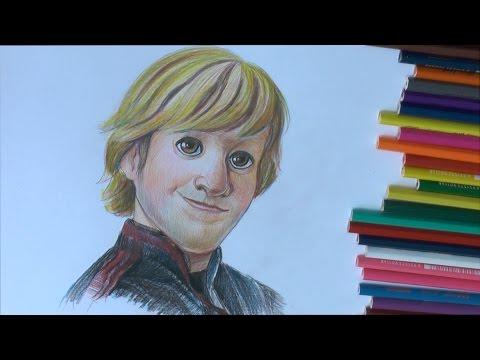 Уроки рисования. Как нарисовать Кристоффа из Холодного сердца how to draw kristoff from frozen