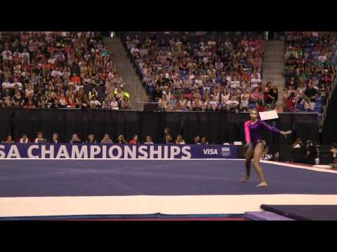 Brianna Brown -- Floor -- 2012 Visa Championships -- Sr. Women -- Day 2