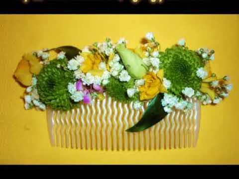 DIY Valentin / Tocado o peineta de flores naturales