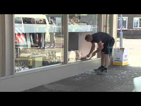 Omstander filmt overval op juwelier in IJmuiden