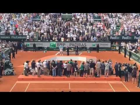 Standing ovation for Djokovic in Roland Garros 2014 final