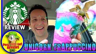 Starbucks® | Unicorn Frappuccino® Review! 🦄🌈