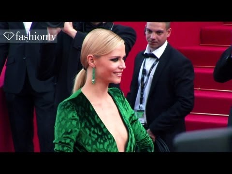 Cannes 2012 Red Carpet: Natasha Poly, Salma Hayek, Ellen Von Unwerth, Virginie Couperie | FashionTV