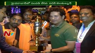 Cricket Legend Sachin Tendulkar Inaugurates Smaaash Gaming Zone at Hyderabad