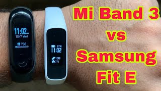Samsung Fit E vs Mi band 3 full Review | Call and message alert | Pratik