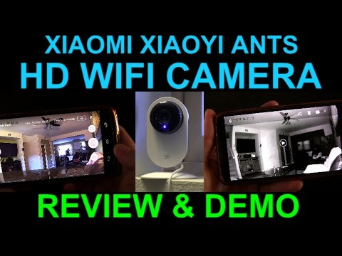Xiaomi Xiao Yi Ants WiFi HD Camera Night Vision Review Demo Unboxing Security Baby Monitor Cheap