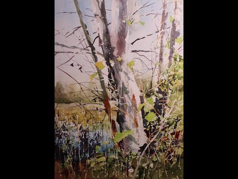 Transparent Watercolor Step by Step Narrated Tutorial, Edge of the Marsh