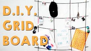 Tumblr Style Gridboard Decor | D.I.Y.