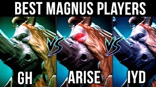 Ar1sE- vs gh vs inYourdreaM - Who is your favourite Magnus Player? Dota 2 EPIC Gameplay