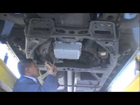 Installing a PML transmission pan and differential cover on a GMC Envoy