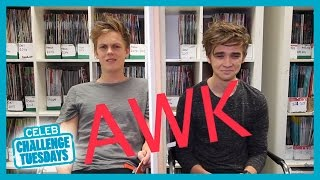 Caspar Lee and Joe Sugg challenge each other to a stare off